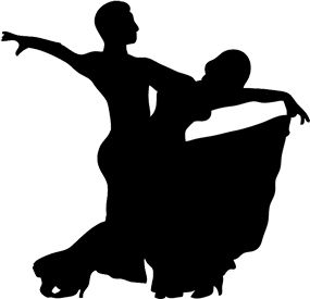 silouette image of a dance