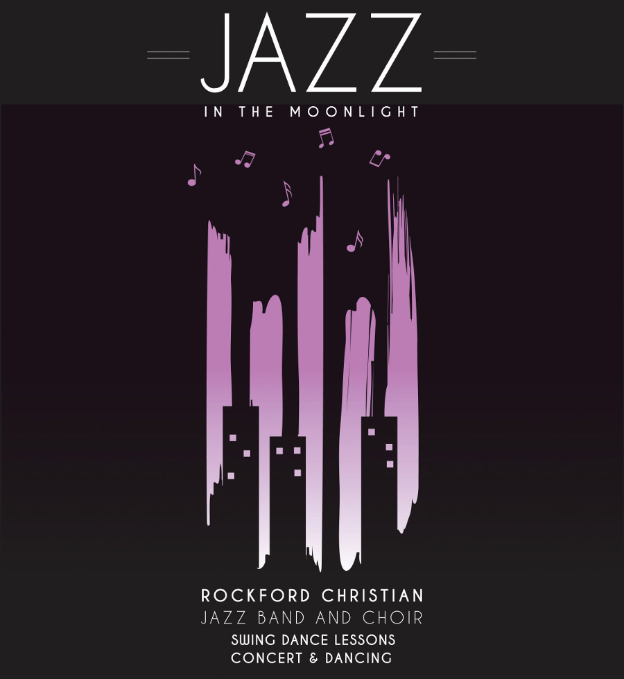 Jazz in the moonlight poster
